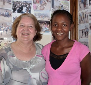Diane O'Rouke came to visit Orphans Foundation Fund in Tanzania