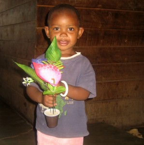 Baby Agape being helped by Katharina through Orphans Foundation Fund in Arusha Tanzania Africa