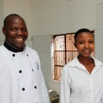 Happiness and the head chef of Charity Hotel in the Orphans Foundation Fund street children project