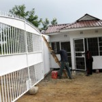 Completed Orphans Foundation Fund gate at the Njiro property